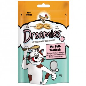 Dreamies Plus Katzensnack Mr. Fell-Tastisch 55g