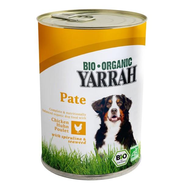 Yarrah Hundefutter Bio Pate Huhn, Spirulina, Seetang 12x400g