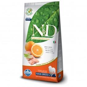N&D Hundefutter Fisch&Orange Adult Maxi getreidefrei 12kg