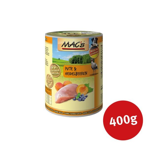 MAC's Dog Hundefutter Pute und Heidelbeeren