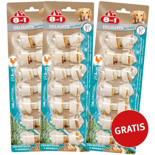 8in1 Dental Delights Hundesnack Kauknochen Aktion 2+1