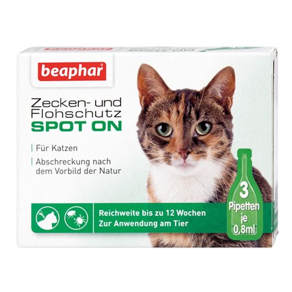 beaphar Zecken- & Flohschutz SPOT-ON für Katzen