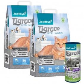 ZooRoyal Tigrooo Fresh Laundry 2 × 14l sdeodorantem sjarní vůní, 700g