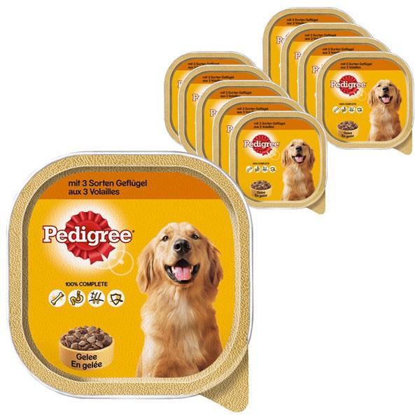 Pedigree Hundefutter mit 3 Sorten Gefluegel 10x300g
