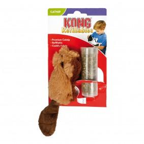 KONG Refillables - nachfüllbare Katzenminze Spielzeuge Beaver