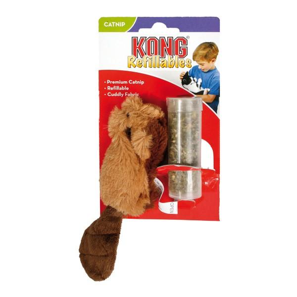 Kong Refillables - nachfüllbare Katzenminze-Spielzeuge - Beaver