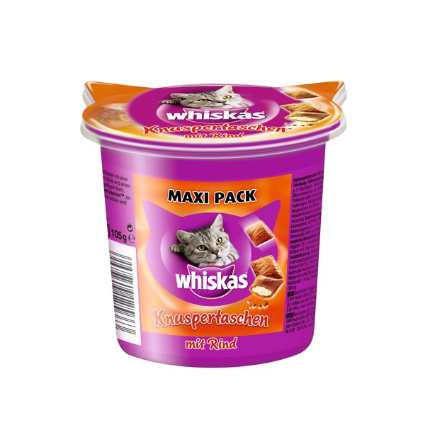 Whiskas Maxi Pack Knuspertaschen mit Rind