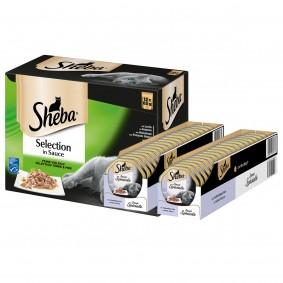 Sheba Selection Feine Vielfalt  96x85g + Sauce Speciale Kalbshäppchen in heller Sauce 36x85 GRATIS!