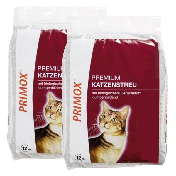 Primox Premium Katzenstreu mit Geruchsabsorber 2x12kg