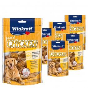 Vitakraft Hundesnack pure Chicken Hühnchenhanteln 5x80g + 1x80g gratis