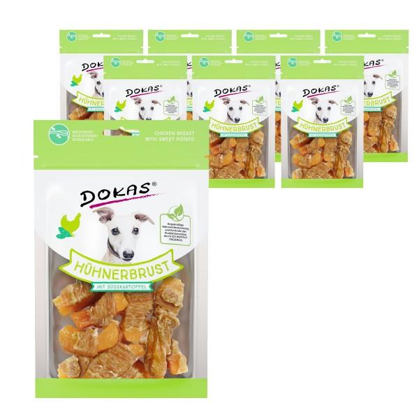 Dokas Hundesnack Hühnerbrust mit Süßkartoffel 8x70g