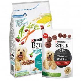 Beneful Hundefutter Gesundes Lächeln 1,4 kg + Meatball Snack 70g GRATIS