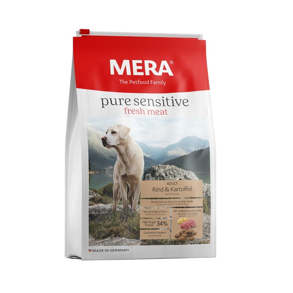 MERA pure sensitive Trockenfutter fresh meat Rind&Kartoffel High Protein