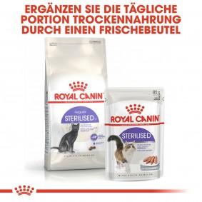 ROYAL CANIN STERILISED Trockenfutter 2kg + STERILISED Mousse 12x85g