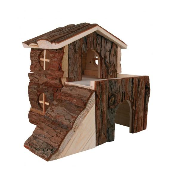 Trixie Blockhaus Bjork für Nager aus Naturholz 20×19×21cm