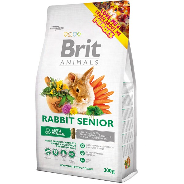 Haustier: Brit Animals Rabbit Senior Complete 1,5kg