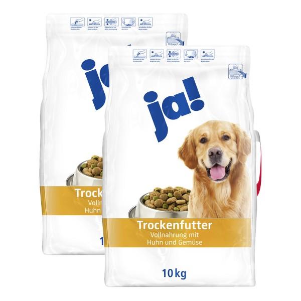 ja! Hundefutter mit Huhn und Gemüse 2x10kg Troc...