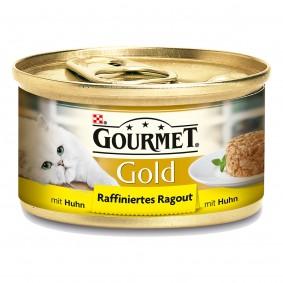 Gourmet Katzenfutter Gold Raffiniertes Ragout Huhn 12x85g