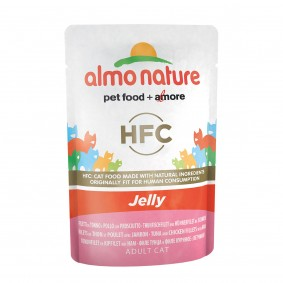 Almo Nature HFC in Jelly pouch Thunfisch, Huhn und Schinken