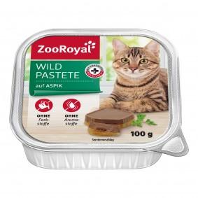 ZooRoyal Katzen-Nassfutter Wildpastete auf Aspik