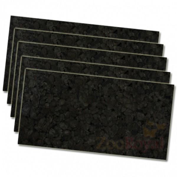 5 x Schwarzkorkrückwand 100x50x2cm