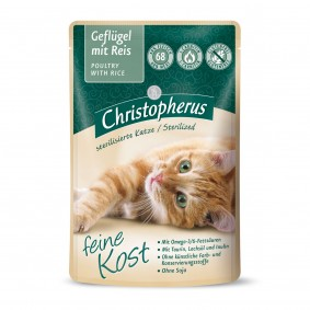 Christopherus Adult Sterilized s drůbežím masem a rýží, 12 x 85 g