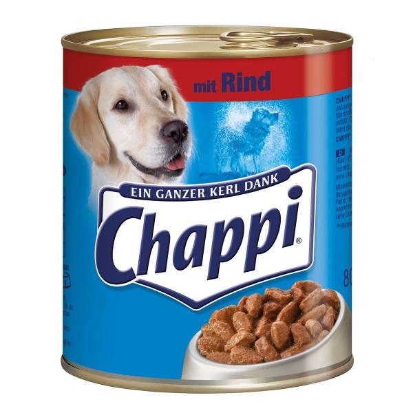 Chappi Hundefutter mit Rind 12x800g