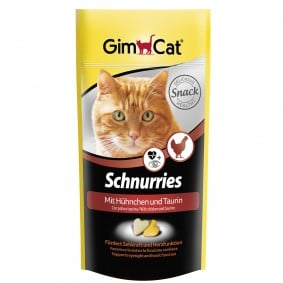 GimCat Schnurries Taurin und Hühnchen 4x40g