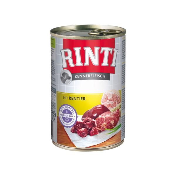 Rinti Nassfutter Kennerfleisch mit Rentier 400g