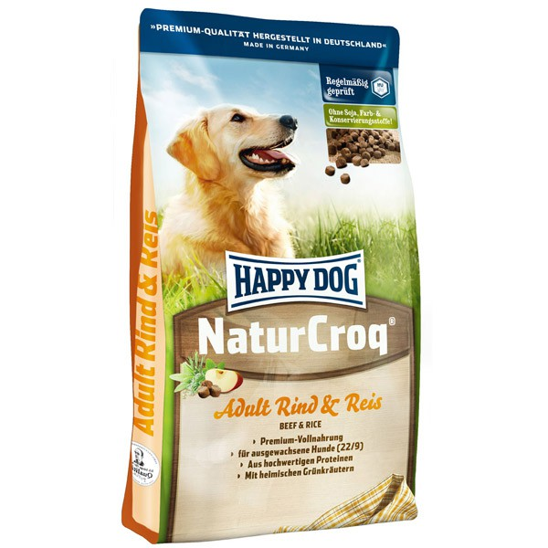 Happy Dog Natur-Croq Rind und Reis