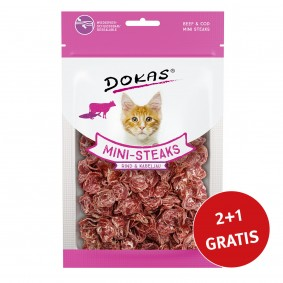Dokas Mini-Steaks Rind & Kabeljau