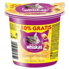 Whiskas Knuspertaschen Care & Treats Huhn und Käse 60g plus 30g gratis