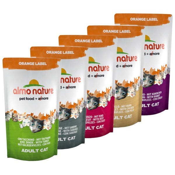 Almo Nature Katzen-Trockenfutter Orange Label 5x750g