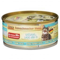MAC's Cat Katzenfutter Feinschmecker Menü Geflügel, Lachs und Ei
