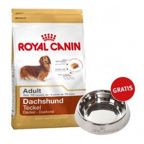 Royal Canin Dachshund Adult 7,5kg + Edelstahlnapf silber gratis