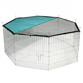 Kerbl Freigehege mit Netz und Tür, verzinkt; 8 Gitter