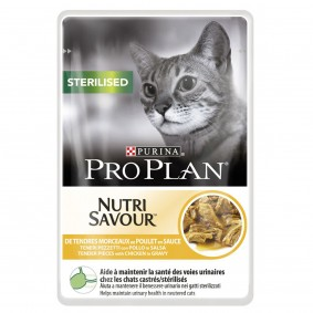 Pro Plan Katzen-Nassfutter Sterilised Huhn 24x85g