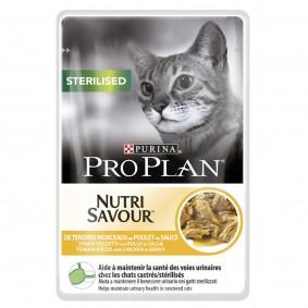 Pro Plan Katzen-Nassfutter Sterilised Huhn 24x85g