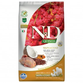 N&D Dog Quinoa Skin & Coat Quail