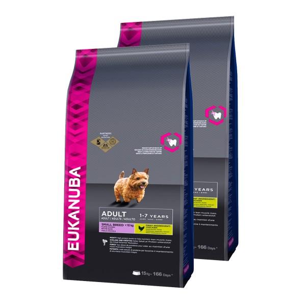 Eukanuba Hundefutter Erwachsene Kleine Rassen Huhn 2x15kg