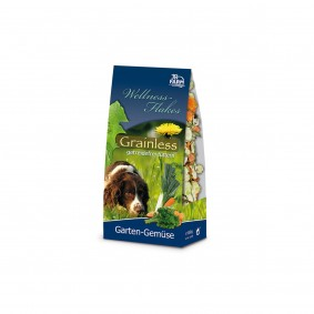 JR Dog Hundesnack Grainless Wellness-Flakes Garten-Gemüse 650g