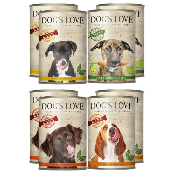 Dog's Love Mix & Match Testpaket zum Sparpreis 8x400g