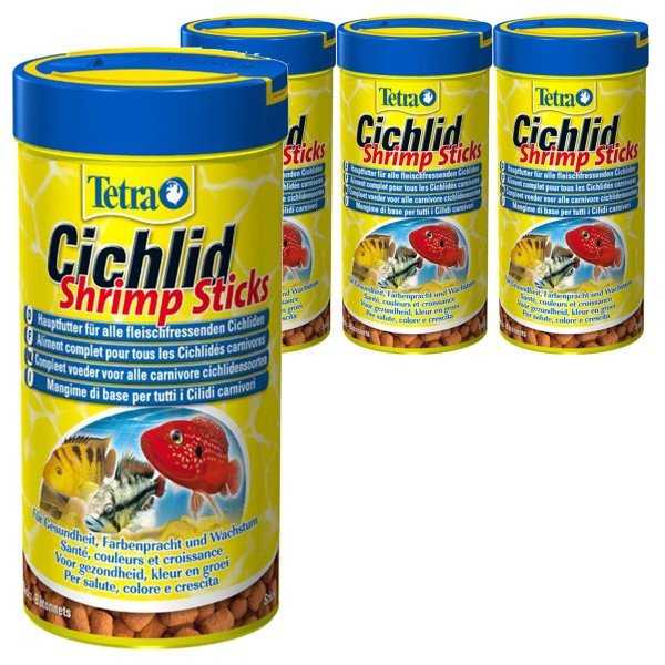 Tetra Cichlid Shrimp Sticks 4x250ml
