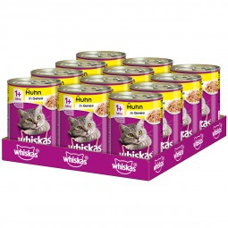 Whiskas Adult 1+ mit Huhn in Gelee 12x400g