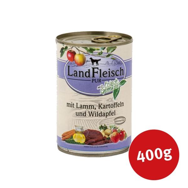Landfleisch Dog Pur Lamm und Ente mit Kartoffel und Wildapfel 400g