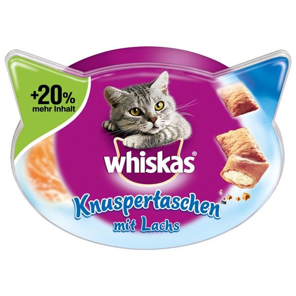Whiskas Knuspertaschen mit Lachs - 72g 5+1 gratis
