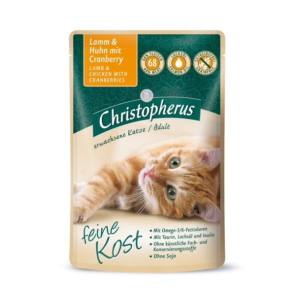 Christopherus Katze Adult Lamm und Huhn mit Cranberry 12x85g