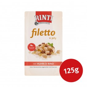 Rinti Hunde-Nassfutter Filetto in Jelly Huhn und Rind