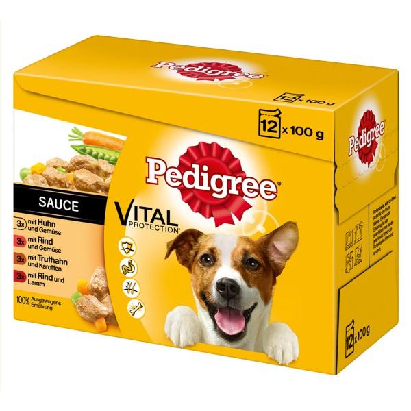 Pedigree Hundefutter Adult in Sauce 12x100g