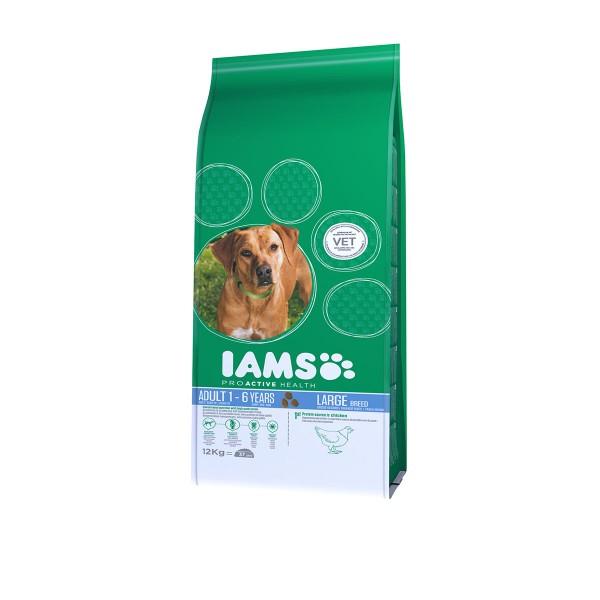 IAMS Hund Adult Trockenfutter Große Rassen Huhn